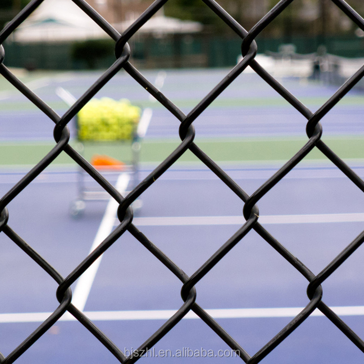Plastic PVC Coated Stainless Roll Chain Link Fence / Netting Mesh