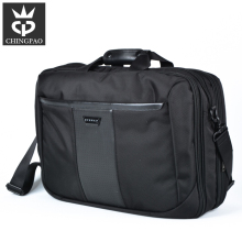 Daily use leather/nylon laptop mens shoulder bag for 17 inch laptop