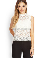 cropped lace top tank tops Lady's shirt summer
