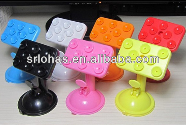 silicone rubber smart cell phone/mobile phone sucker stand