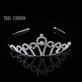 2016 New silver small crown for girls pegeant tiaras wedding