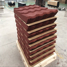 Construction material stone coated metal roof tiles in Indonesia