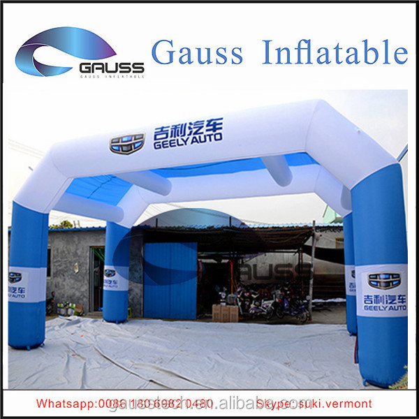 Inflatable arched door for holiday/celibration/event