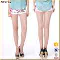 Wholesale fashion girl's jean denim mini women printed shorts jeans