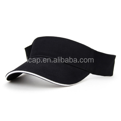 embroidry logo caps and hats outdoor sunscreen sports caps cotton sun visor hats