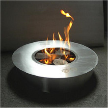 Stainless steel manual bio fuel indoor round fireplace
