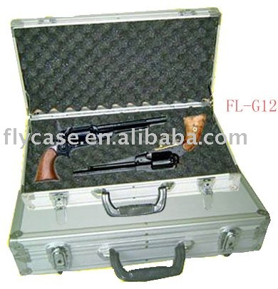 2014 style fashion aluminum gun case,rifle casewith sponge and storge handle ,aluminum pistol case
