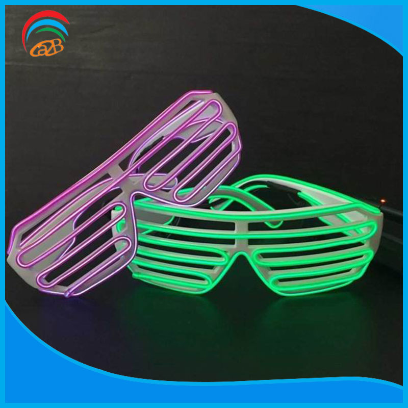 High Brightness Flashing Ps El Wire Glasses For Rave Concert Rave Party Etc Events