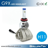 Single Beam Fanless Real 2200lm Car Headlight h11 Socket LED Light Bulbs Conversion Kits Bulb