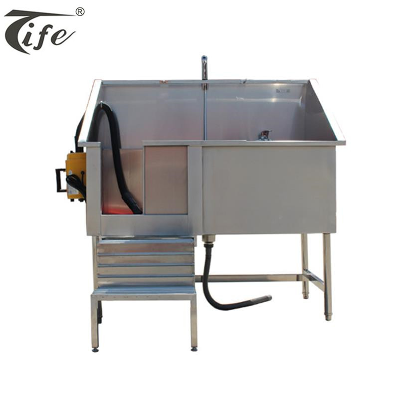 Professional high quality stainless steel electric dog pet grooming bathtub with dryer