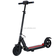 2016 new products portable folding shock absorption electric scooter with 8 inch solid tires