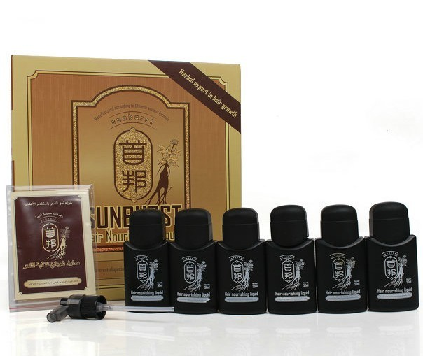 100% genuine Original real result New sunburst hair growth 50ml*6 bottles fast hair growth 100% genuine