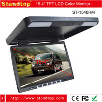 best selling 15.4 inch bus tv roof mount car dvd player with vga port