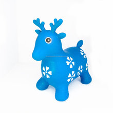 cute inflatable deer toy hopper jumping animals