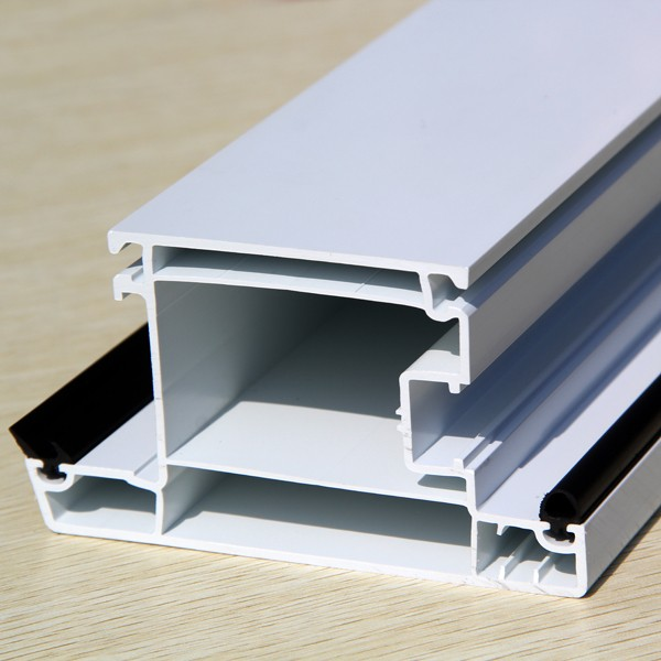 60 series casement out-swing door sash made by upvc raw material with 2.2mm thickness from China manufacture