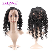 Yvonne brazilian curly crochet hair extension brazilian human hair weave loose wave perruque lace frontal 360