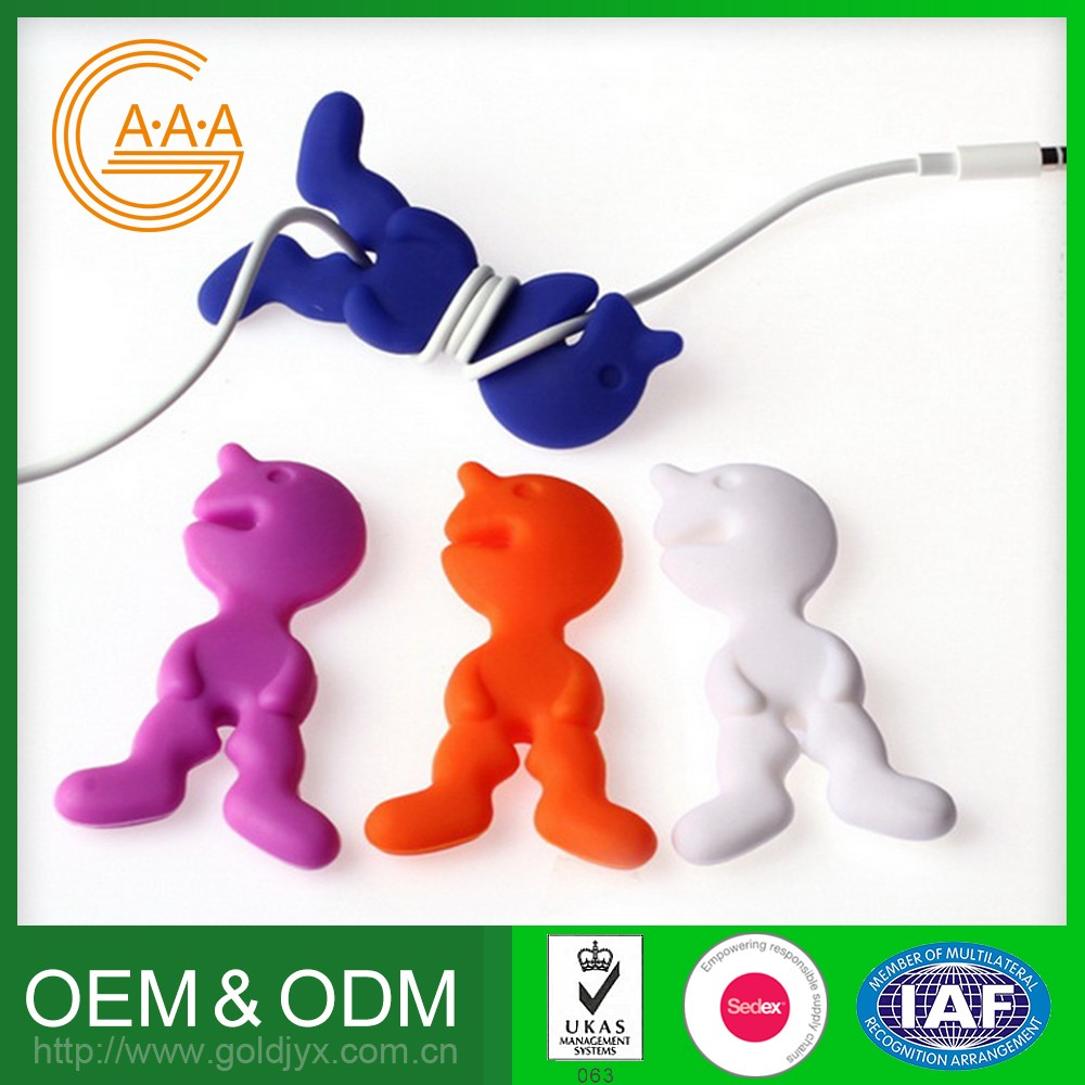 Hot Selling Reasonable Price Oem High Quality Newest Design Headphone Silicone Rubber Cable Winder