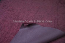 High quality Stone Wash Crinkle Fabric with pvc backing in guangdong