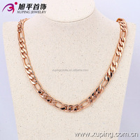 Newest Design European Xuping Fashion Jewelry Men's Necklaces without Stone 18k Gold Color