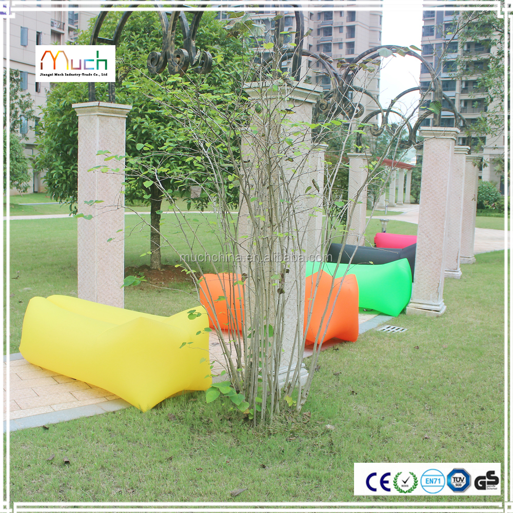 210T Nylon 3 season custom lay bag inflatable air sofa