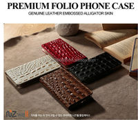 NIZWELL Alli Flip Phone Case for Samsung Galaxy S5 G900 Synthetic Leather Embossing Alligator Skin Handmade