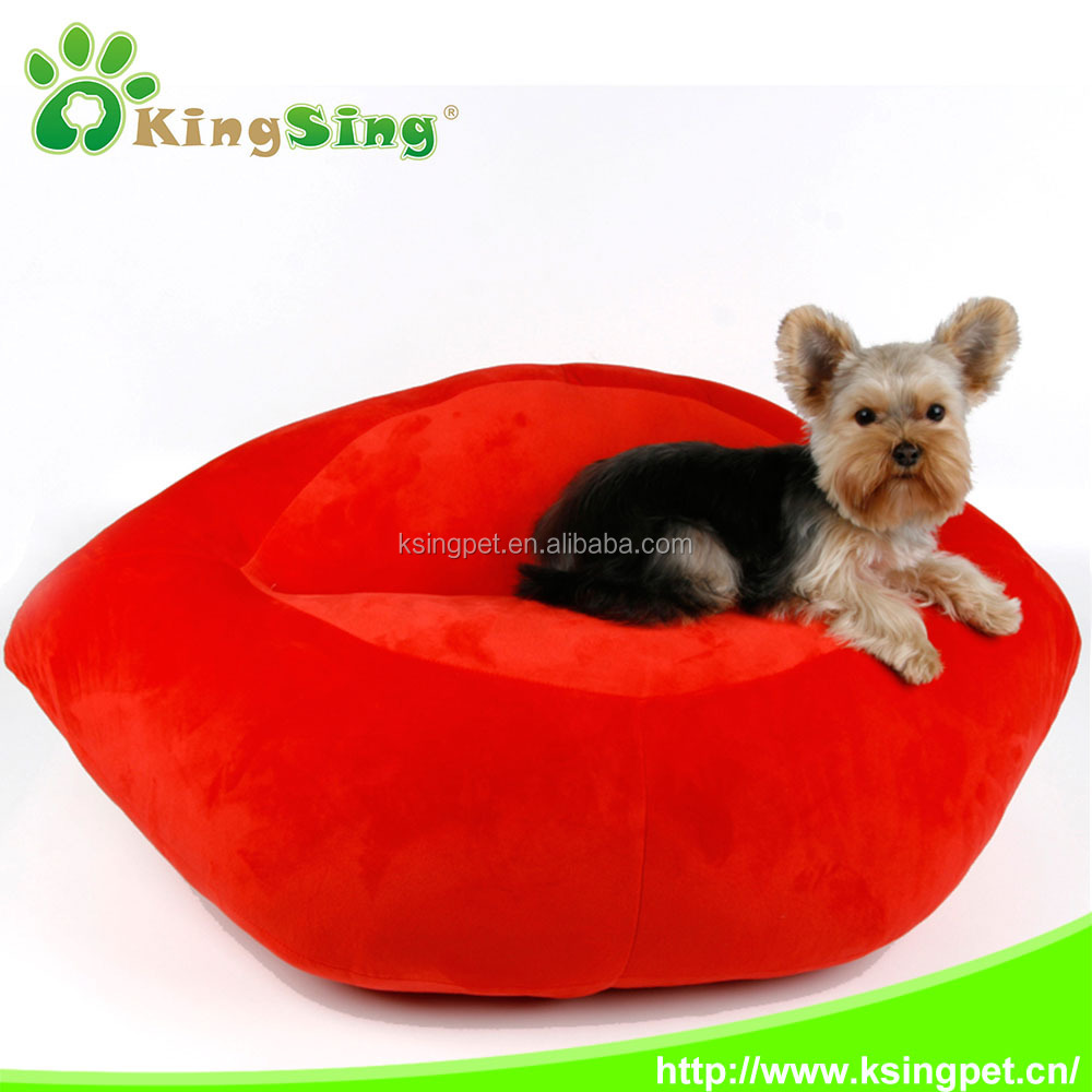 2016 new pet accessories bed, wholesale luxury flaming lips pet dog sofa bed