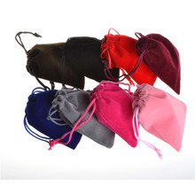 Red,Green,Blue,Purple,Yellow,Black,Brown,Atrovirens Color Velvet Pouch