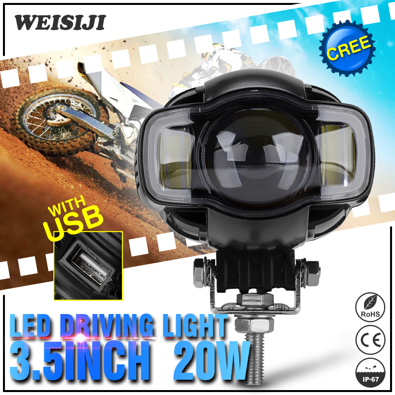Motorcycle accessories 3.5 inch led work light 9-85v DC led motorcycle headlight driving light