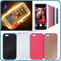 Professional led phone case selfies plastic phone case for iPhone 5 5S 6 6S plus from justcig