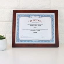 8.5x11 MahoganyDocument Frame Made to Display Certificates 8.5x11 inch without Mat Classic Style