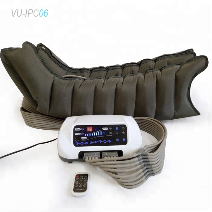 vu-ipc06 8 chamber air compressor leg massage blood circulation and lymphedema pump with CE ROHS approved