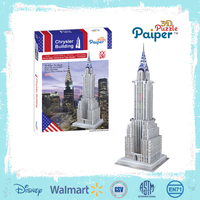 Chrysler design diy paper craft 3d puzzle building