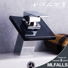 New arrival single hole new design taps and mixers,chrome copper water mixers,black glass basin faucet