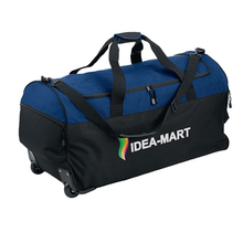 Wholesale trolley bag dark blue oxford travel rolling duffel bag with wheels
