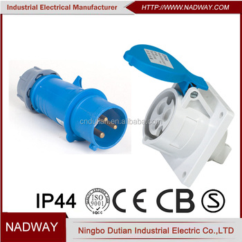 IP44 waterproof 3 pin 16a industrial male and female plug