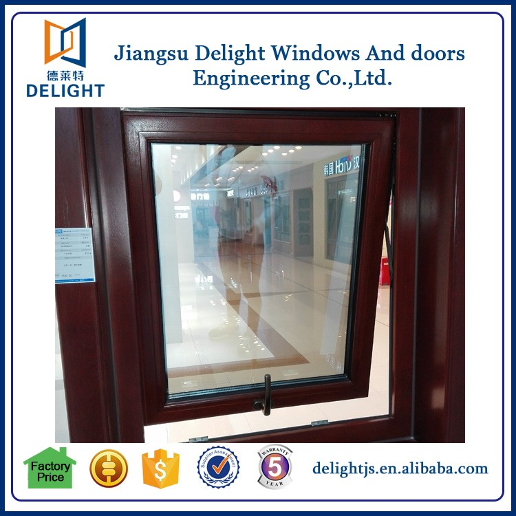 Triple glass swing aluminum alloy wood hung exterior windows