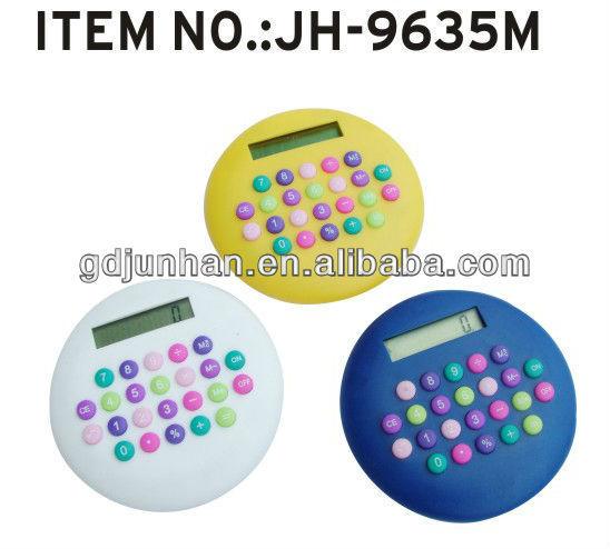 Colored mini solar calculator keychain