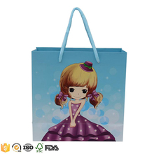 hot sales cute beautiful cartoon girl recycled paper packing bags