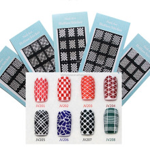 3D printer black nail sticker nail art stencil stamping hollow nail sticker resuable stamping tool