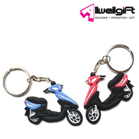 Promotional keychain PVC creative motorcycle shape key ring