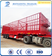 Hong dong tri Axle Fence Cargo Animal Transport semi Trucks on sale