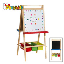 wholesale children educational wooden drawing board with double sided W12B015