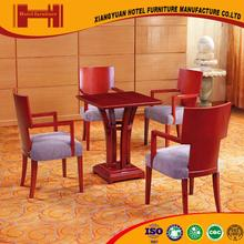 New Arrival french style serviceable PU leather hotel restaurant table and chairs for sale