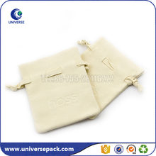 Wholesale Suede leather small keychain pouch with drawstring