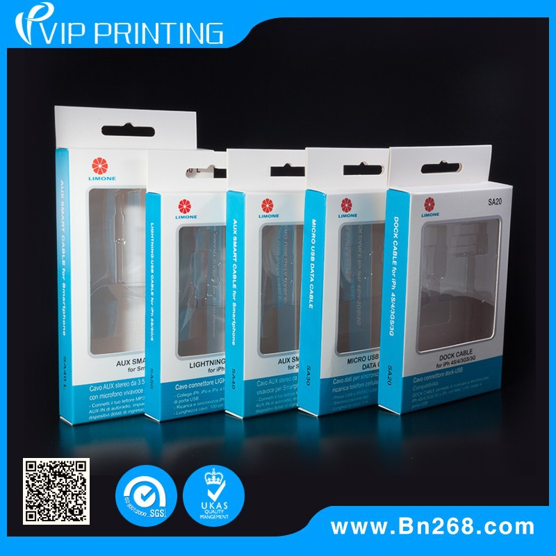 Factory Branded For Mobile Accessories USB Cable Recyclable Paper Package