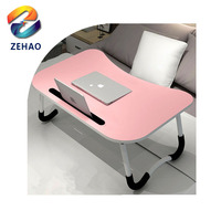 Eco-Friendly Easy Adjustable Small Folding Wooden Bed Laptop desk Table on bed