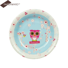 Two Love Birds Paper Banquet Dinner Plates Paper Dessert Plates