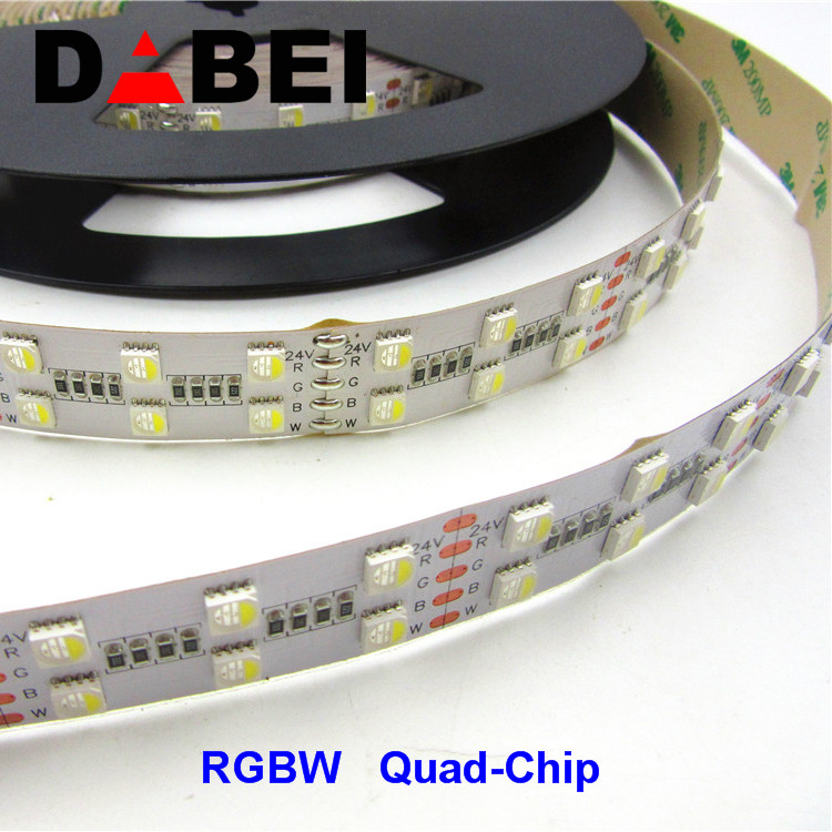 RGBW LED strip 24V,Quad-Chip Dual-Row 120led/m,4 color in one LED Double Row strip/2 row strip