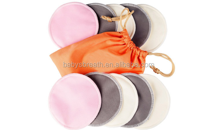 BCD089 Washable Organic bamboo nursing pads Reusable Spill-proof Breast Feeding Pads
