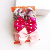 3PCS Christmas Gift Polka Dots Baby Girl Children Infant Baby Hairband Hair Accessories Headband